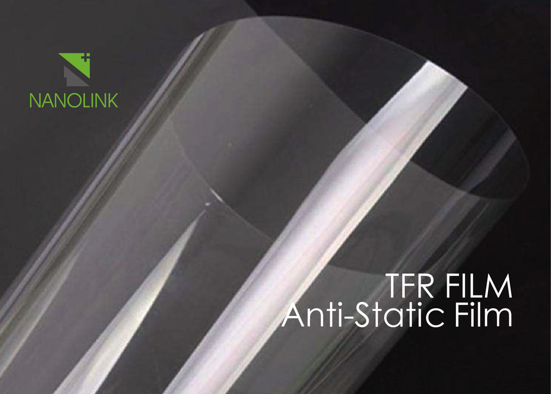 Anti Static PET Film For Heat Transfer Print / Silicone Coated Low Surface Resistivity