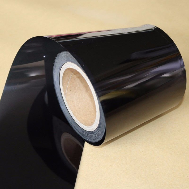 Electrical Insulation Black PET Film For Medical Devices / Producing Adhesive Tape